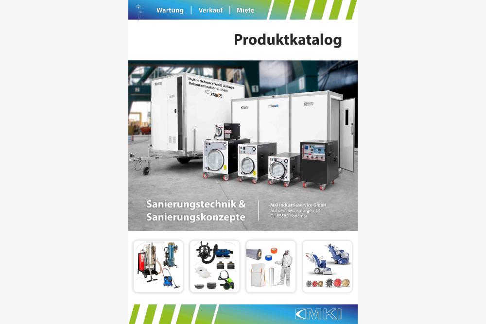 Katalog aller Produkte im Bereich Sanierungstechnik Entsorgung PSA