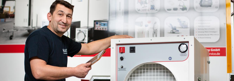 Wartung & Service für Technik für Schadstoffsanierung MKI in Limburg und Hadamar